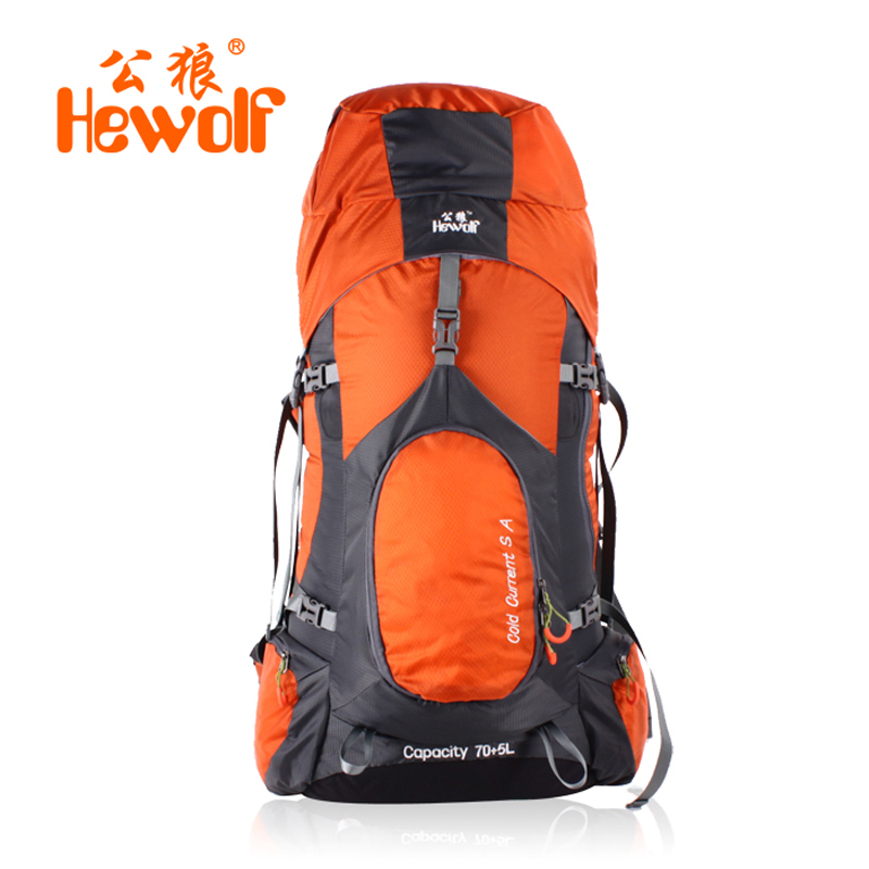 Male wolf outdoor mountaineering bags riding backpack Shoulders bag men and women travel bag 75L authentic hiking package<br><br>Aliexpress