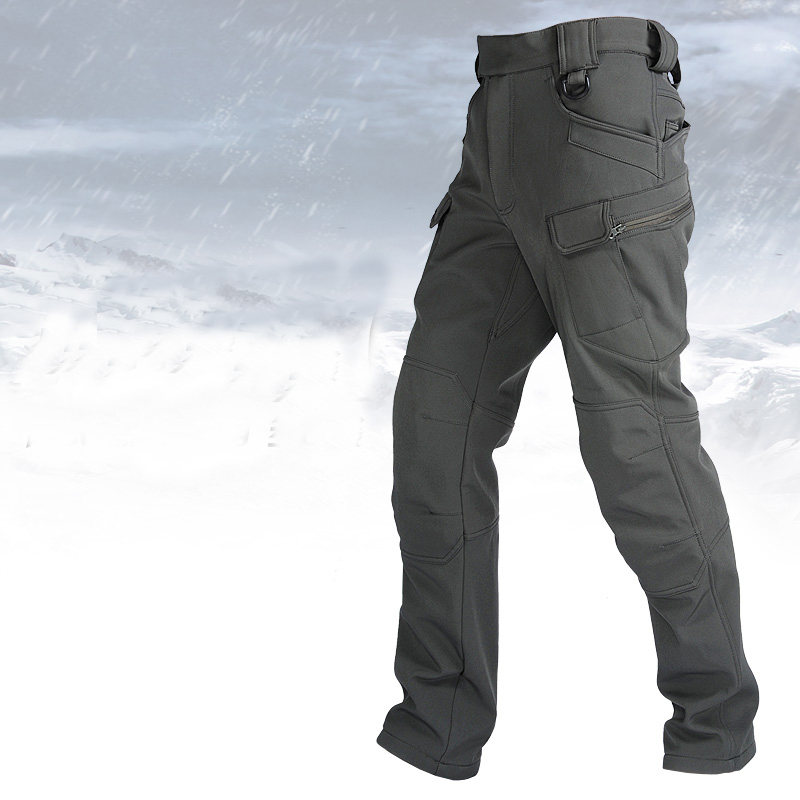 TAD IX7 Tactical Shark Skin SoftShell Hiking Military Pants Men Waterproof  Windproof Winter Trousers Army Hunting Camping P43