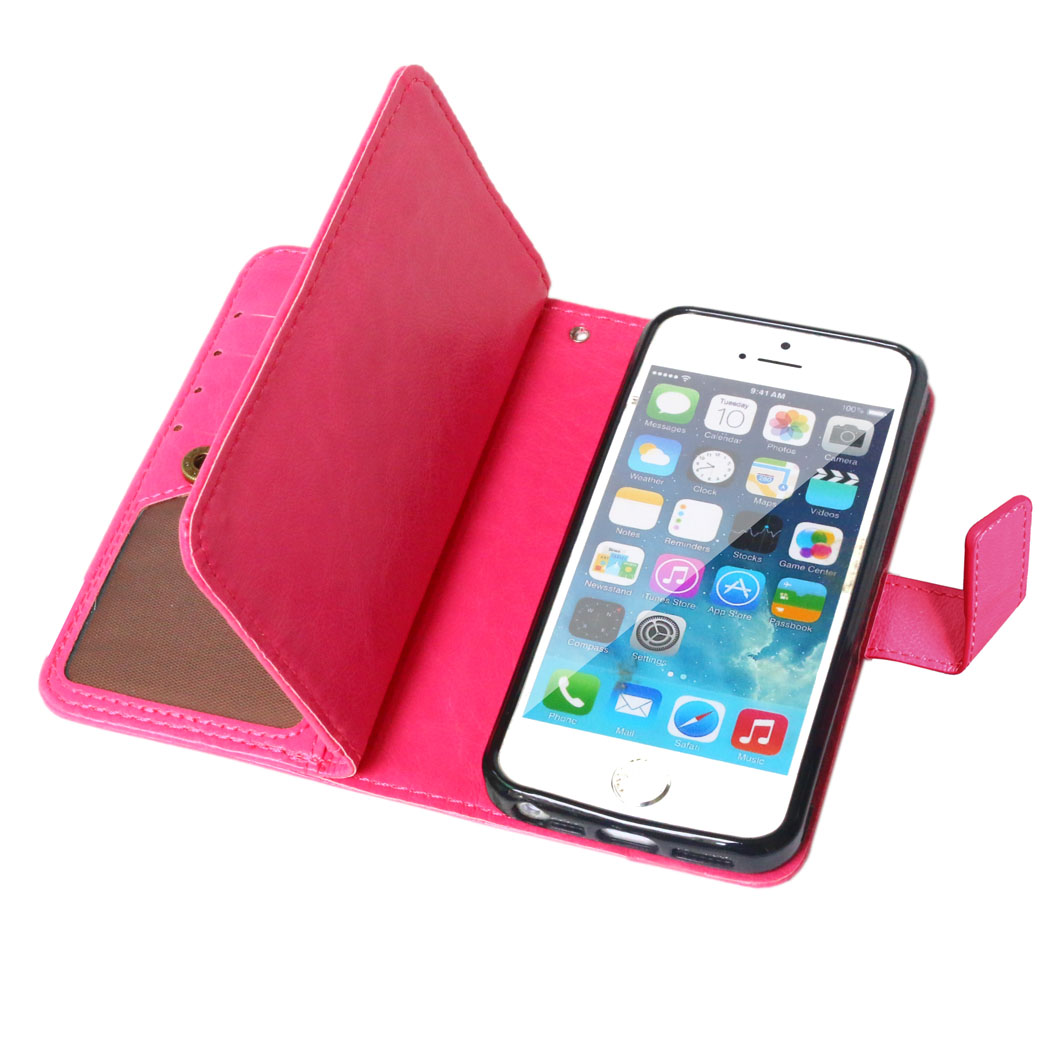 For iPhone 5s Case Business Wallet Flip Leather & TPU Photo Frame Case For Apple iPhone 5s 5 Case Fundas Phone Coque ]