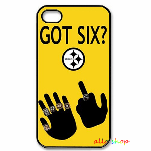 American Football Pittsburgh Steelers GOT SIX WE DO fashion cell phone case cover for iphone 4 4S 5 5S 5C 6 6 plus #1447(China (Mainland))
