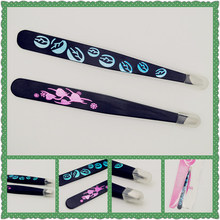 2015 New style Freeshipping Factory Direct Selling cosmetic use makeup tools stainless steel eyebrow tweezers for wholesales