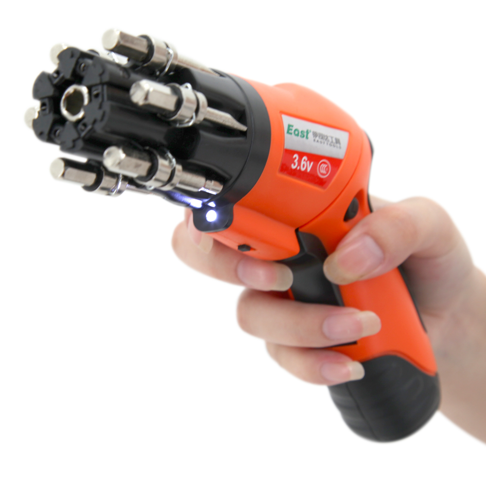 East Drill 3.6V Multi-functions Portable Rechargeable Electric Screwdriver with Powerful LED Light Power Tools Makita quality(China (Mainland))