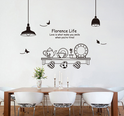 Decal film picture more detailed picture about wall for Kitchen and dining room wall decor
