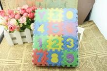 36 stück unisex mini-puzzle kind pädagogisches spielzeug buchstaben des alphabets Ziffer schaumstoffmatte(China (Mainland))