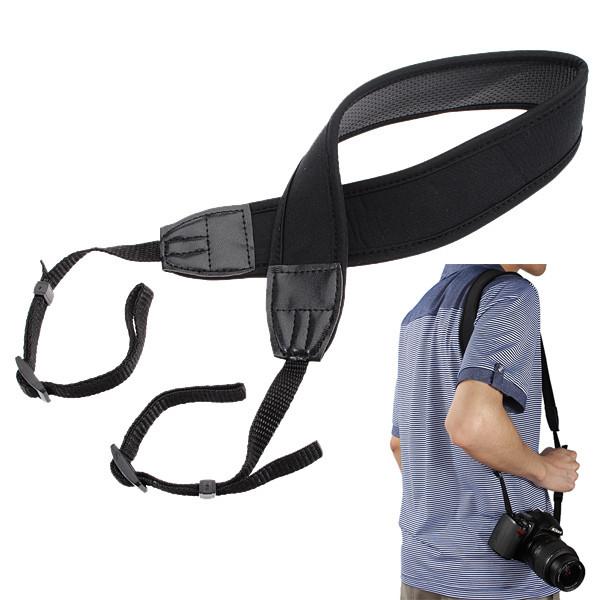 Waterproof Skidproof Camera Neck Strap Elastic Neoprene nylon Shoulder Sling Belt for SLR/DSLR For Nikon For Canon Black(China (Mainland))