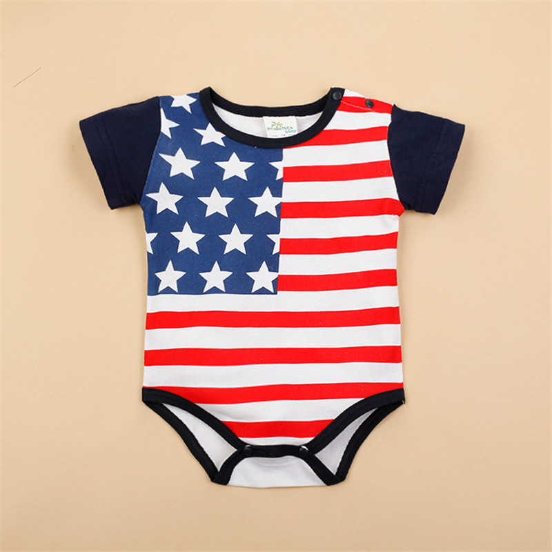 Flag Design Baby Boy Girl Clothes Infantil Newborn Short Sleeveless Triangle Coveralls Next Bebes Jumpsuits Rompers(China (Mainland))