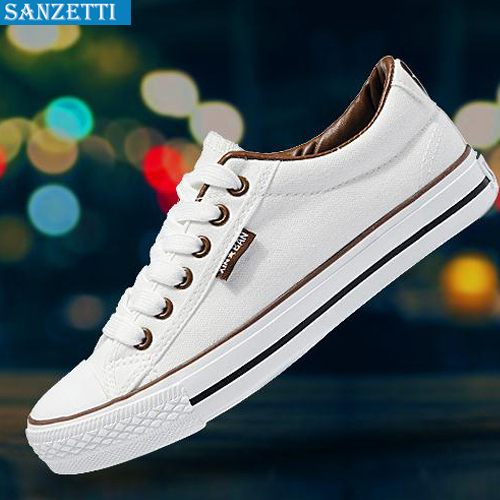 2015 new summer style Solid breathable canvas shoes female Korean couple Preppy Chic School casual shoes Free Shipping sanzetti(China (Mainland))