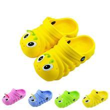 Zapatos de bebé envío gratuito nuevos cabritos de la llegada Slodes EVA lindo orugas de dibujos animados patrón de zapatos transpirables zapatos de bebé de la muchacha del muchacho ropa de playa(China (Mainland))