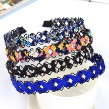 Buy New Arrival Braid Cloth Flower Headbands Simple Elegant Hairbands Women Girl Hair Accessories for $1.34 in AliExpress store