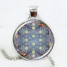 Mới nhất 2017 OM mặt dây chuyền vòng cổ hoa trang sức sống mandala tuyên bố vòng cổ dài necklaces Yoga jewelry Zen đồ trang sức(China)