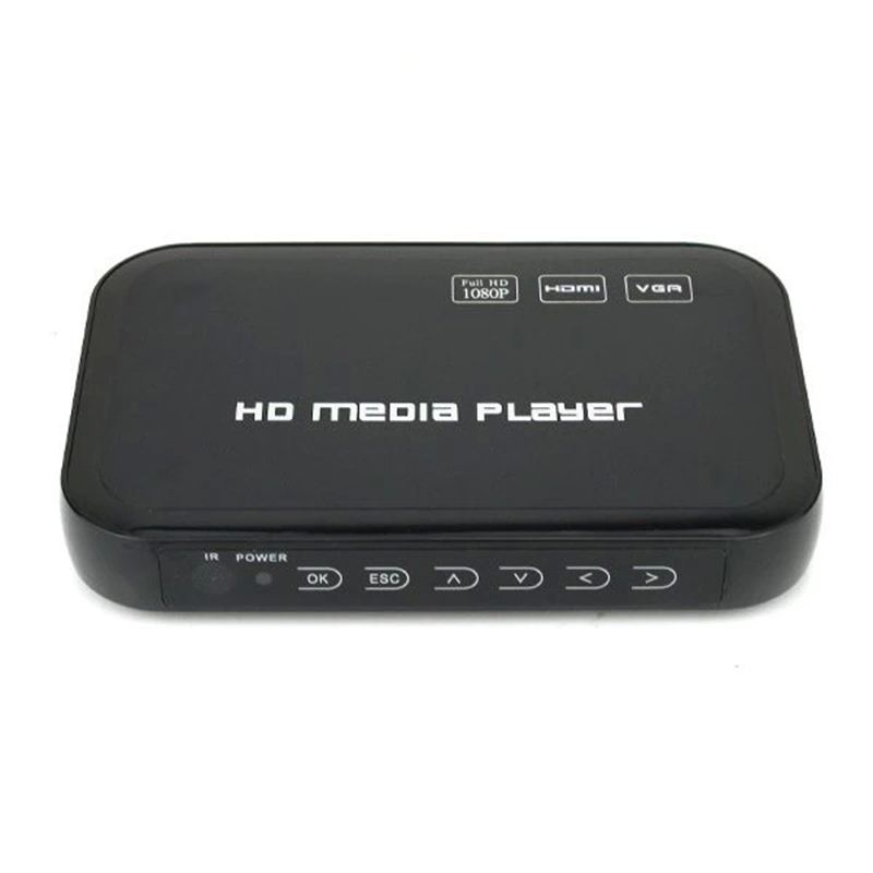 Mini Media Player Full HD 1080P With HDMI VGA AV USB SD Ports Support MKV With Retail Package Free Shipping(China (Mainland))