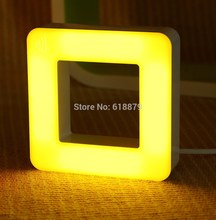 Sound and Light Control LED Night Light Energy-Saving Bedside LED Night Lamp Square Desk Lamps Free Shipping(China (Mainland))