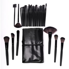 1 Set 32 Pcs Styling Tools Super Soft High Quality Makeup Brushes  Cosmetic Free Shipping With Black Leather Bag