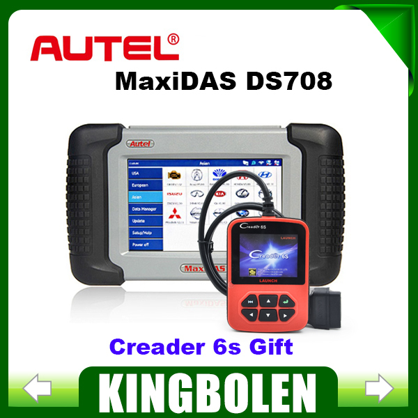 100% Original Autel MaxiDAS DS708 Professional Diagnostic Tool Autel DS 708 With Multi-language Update Online Creader 6s Gift(China (Mainland))