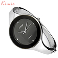 KIMIO Bling Fashion Crystal Women Lady Black Dail Stainless Steel Bracelet Quartz Watches KIM021