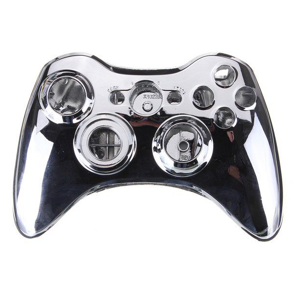 High Quality New Set Full Shell Cover Case + Buttons Silver for Xbox 360 Wireless Controller Gamepad(China (Mainland))