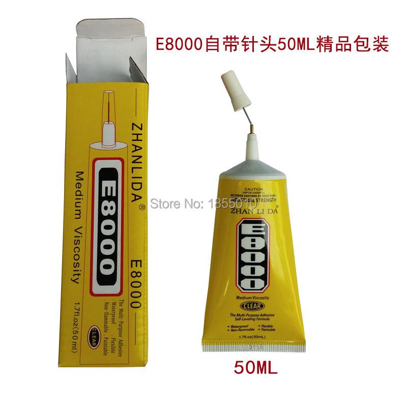 High Quality E8000 Glue 50ml Multipurpose Adhesive Epoxy Resin Diy Jewelry Fix Touch Screen Glue(China (Mainland))