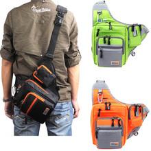 iLure Waterproof Canvas Fishing Bag Multi-Purpose Outdoor Bag Reel Lure Bags Pesca Fishing Tackle Bag Green/Orange/Black(China (Mainland))