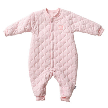 Autumn and winter flower yarn cotton-padded thermal underwear infant bodysuit romper ny550-293-2