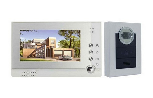 Фотография Fashion 7inch TFT Wred Video Door Phone Intercom System w/Touch Key Camera Monitor