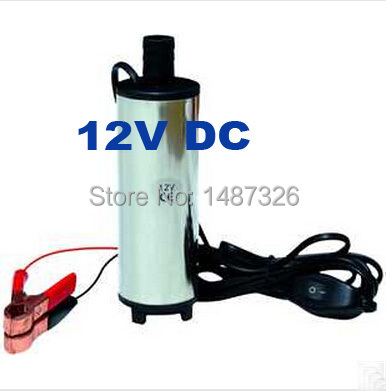 2015 New 12V DC Diesel Fuel Water Oil Car Camping Fishing Submersible Transfer Pump(China (Mainland))