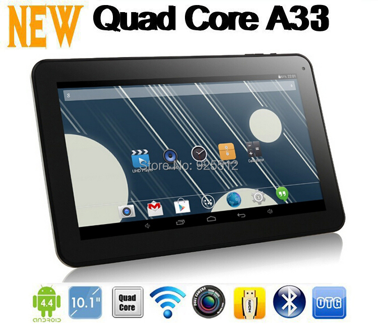 2015 New Year Gift ! 10 inch AllWinner A33 Quad Core Tablet PC Android 4.4 OS wifi Bluetooth Dual Cameras Free Shipping(China (Mainland))
