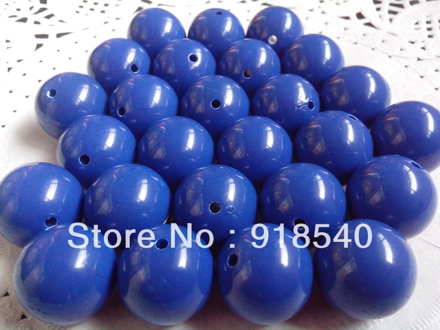 Royal Blue Large 20MM 105pcs Big Chunky Gumball Bubblegum Acrylic Solid Beads ,Colorful Chunky Beads for Necklace Jewelry