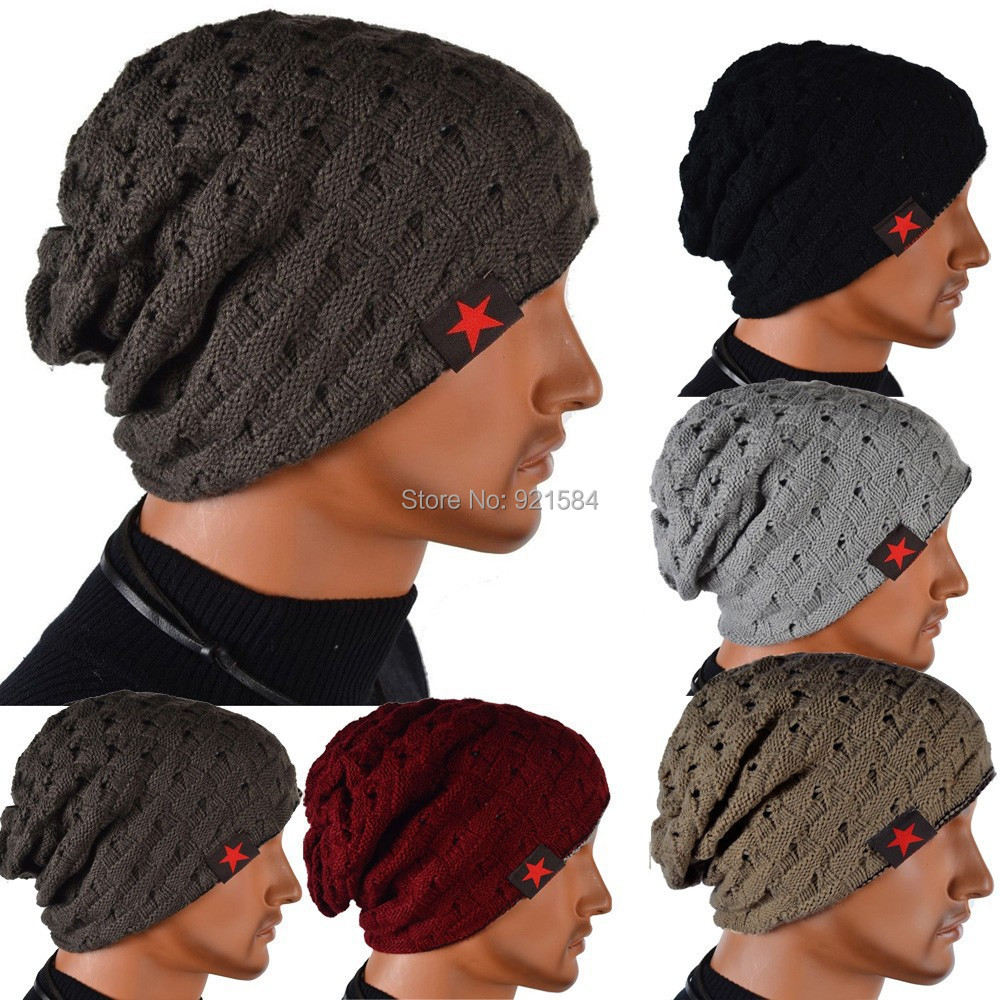 winter reversible beanie men hat womens hats,snow caps knit hat skull chunky baggy warm skullies,touca gorro,CfW(China (Mainland))
