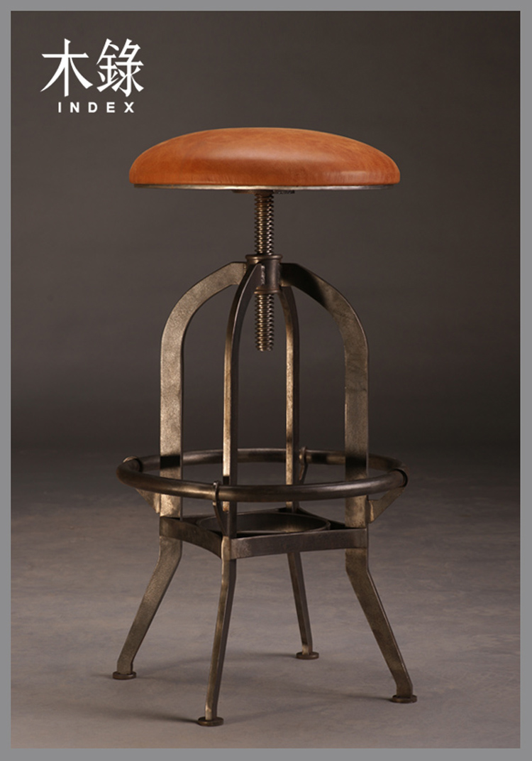 Limited berserk pastoral style wrought iron bar chairs stool rotating lift reception retro Promotions New<br><br>Aliexpress