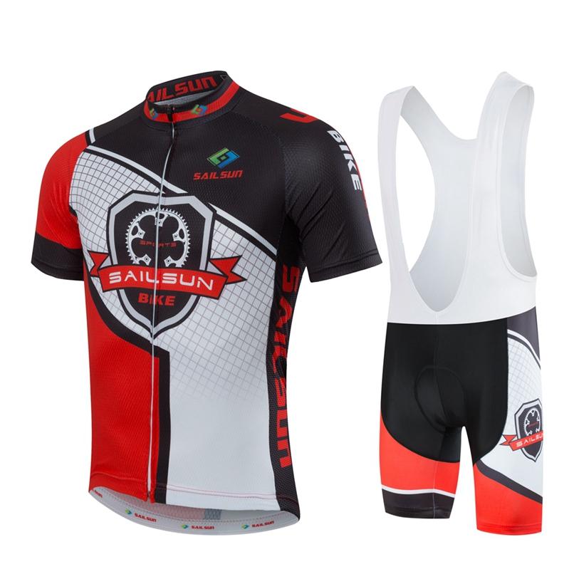 Hot SAIL SUN Men White Pro Cycling Jersey Top Red Team Bike Clothing mtb Summer Male Bicycle Shirts Jacket Sportswear(China (Mainland))