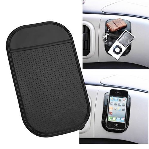 2015 HOT SALE Powerful Silica Gel Magic Sticky Pad Anti Slip Non Slip Mat for Phone Car Accessories Black Color