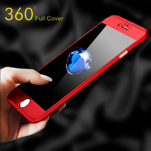 Buy 360 Degree Full Cover Case iPhone 6 Cases 6s 7 Plus 5S 5 Tempered Glass iPhone 7 Case 6 Plus Phone Case Capa Coque for $2.94 in AliExpress store