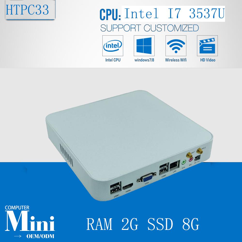 Mini Computer PC Green PC Intel Core i7 3537U 2GB Ram 8GB SSD 300M Wifi Windows Linux XBMC Supported(China (Mainland))