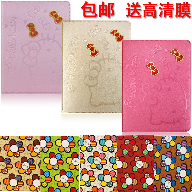 Cute Cartoon Hello Kitty Leather Case for ipad mini 1 2 ultra-thin protective cover , free shipping(China (Mainland))