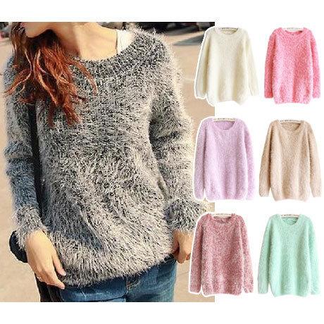 2016 осень зима подражали мохер свитер женщин свитера и пуловеры топы/мода удобные ...