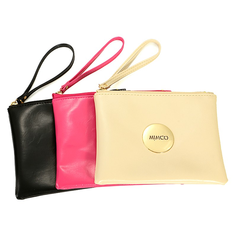 Women Famous brand purse mimco medium pouch Cheap Wholesale PU Leather mimco pouch phone case bags(China (Mainland))