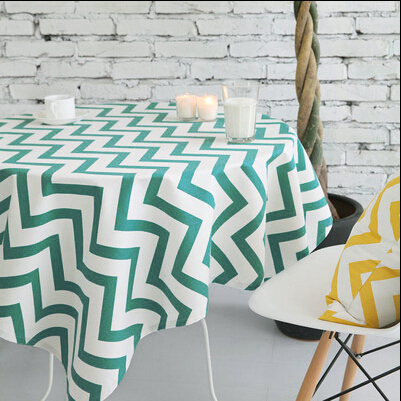 Modern Table Runner Lively Leap Geometric Wavy Lines Bright Colors European And American Fashion Style Table Cloth Round(China (Mainland))