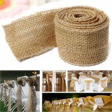 300x6cm Natural Vintage Jute Hessian Burlap Ribbon Rustic Weddings Belt Strap Floristry Wedding Party Decor Craft(China (Mainland))