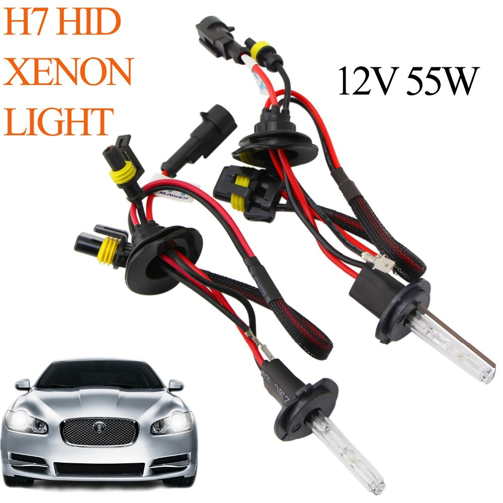 HID Xenon Bulbs Replacement H7 35W 12V 4300K 6000K 10000K Fog Light Brake Light Car Light Daytime Running Light 1 Pair For ford(China (Mainland))