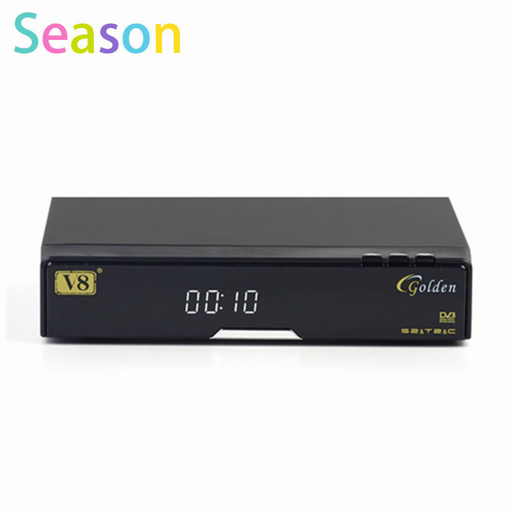 V8 Golden DVB-S2 + T2 +C Satellite TV Combo Receiver Support PowerVu Biss Key Cccamd Newcamd USB Wifi(China (Mainland))