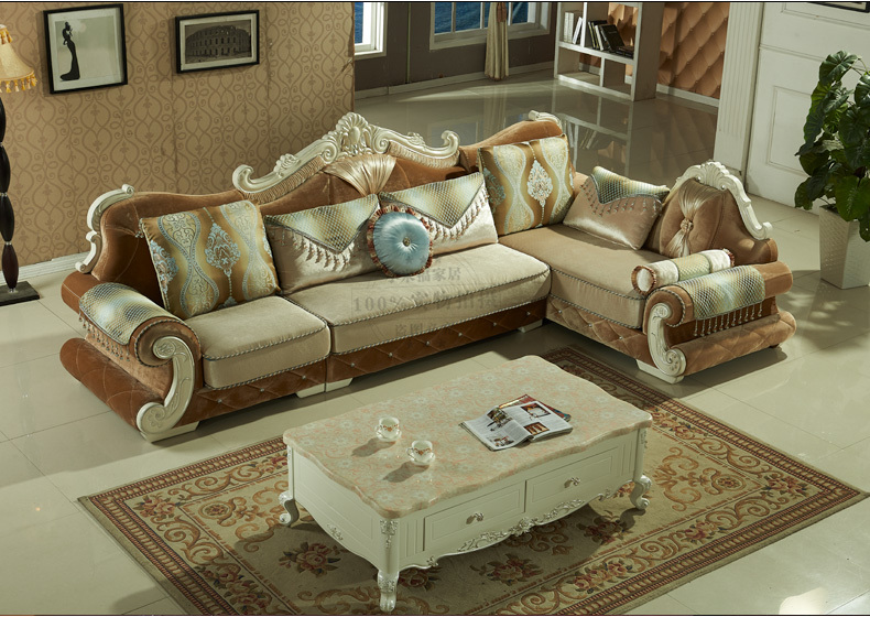 New Arrival Solid Wood Furniture Sofa Sets Classical European Style Sofa  High Quality Living. furniture