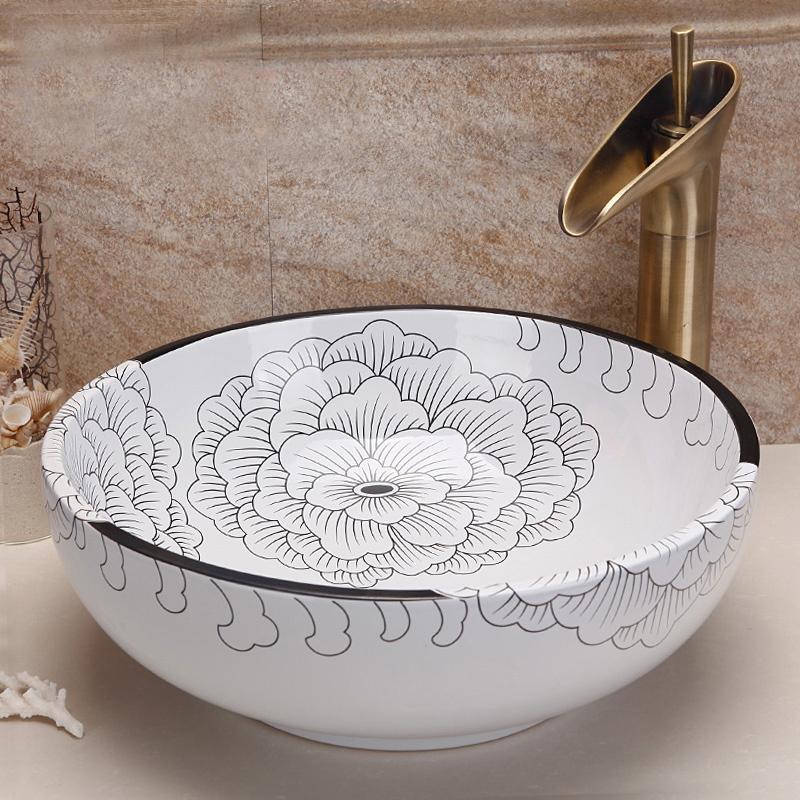 online kaufen gro handel bade lavabo aus china bade lavabo gro h ndler. Black Bedroom Furniture Sets. Home Design Ideas