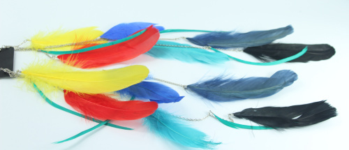2015 NEW RAINBOW COLOR LONG FEATHER EARRING DROP EARRING EARRING JEWELRY(China (Mainland))