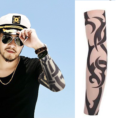 2016 new popupar street style Tattoo Sleeve Cool Rock cycling Arm Warmers fingerless multichoice unisex high quality hand wear