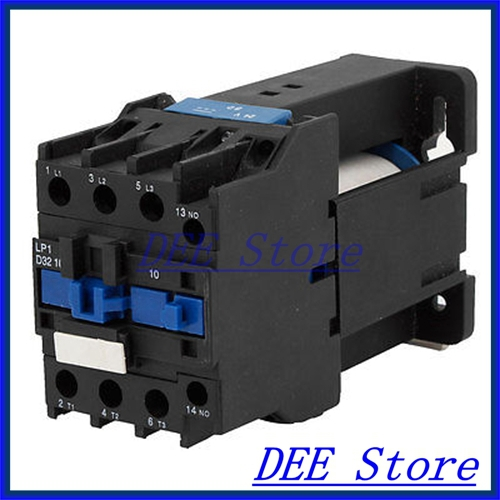 LP1-D3210 3 Phases 3P NO. DIN Rail Mounting AC Contactor 220V Coil<br><br>Aliexpress