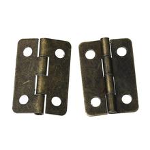 Door Butt Hinges(rotated from 0 degrees to 280 degrees)Antique Bronze 4 Holes 22mm  x 15mm ,100 PCs 2016 new(China (Mainland))