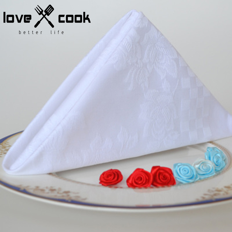 10pcs western dinner serviette cotton table napkin hotel for 10 easy table napkin folding