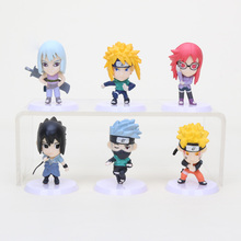 Buy 6pcs/set Naruto figure Uzumaki Naruto Uchiha Sasuke Haruno Sakura Hatake Kakashi pvc action figure model toys for $11.33 in AliExpress store