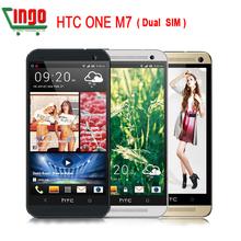 Original HTC One M7 EU 802D Dual SIM GPS WIFI 4.7''Touch Screen Quad-core1.7GHz 4MP camera 32GB Unlocked CellPhone(China (Mainland))