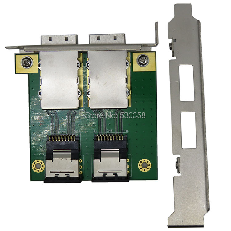 2 port Internal SFF-8087 to External 8088 PCI mini SAS 26P Adapter SAS RAID Adapter8.5cm(China (Mainland))